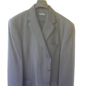 Nautica 2 Pc Black Pinstrip Suit